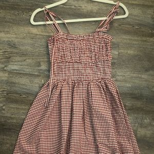 Forever 21 Red Gingham Mini Dress - size small